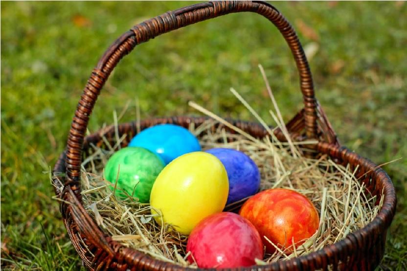eggs in a basket - Easter Translations